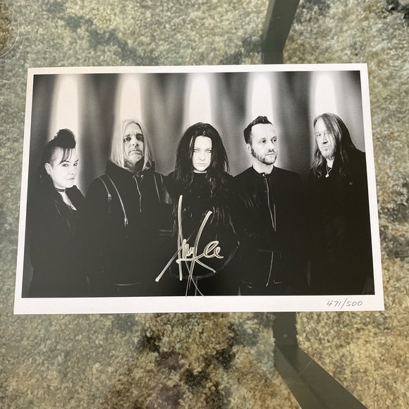 Signed Amy Lee Evanescence print 471/500 LE